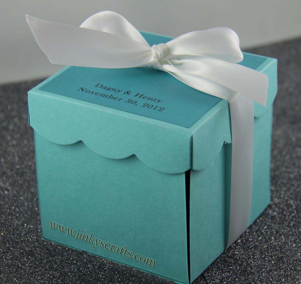 Unique Wedding Invitations In A Box: Jinky's Crafts & Designs: Tiffany Inspired Invitation Box