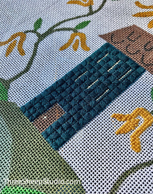 Hand Painted Needlepoint Canvases by Rose Clay at ThreeSheepStudio.com