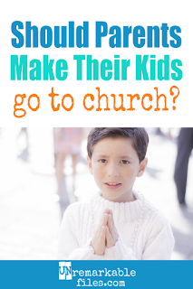 Many parents struggle with the question of whether to attend church as a family, especially when some of the kids have a hard time sitting still or just don't want to go. Should parents worry about forcing their beliefs on their children or just go to church as a family, anyway? #parenting #church #kids #christian