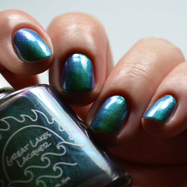 olive multichrome nail polish