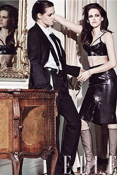 Kristen Stewart gender bender image Elle