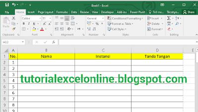 Cara Membuat Baris Pertama Tabel Otomatis Jadi Judul Header di Tiap Halaman Excel Saat Dicetak