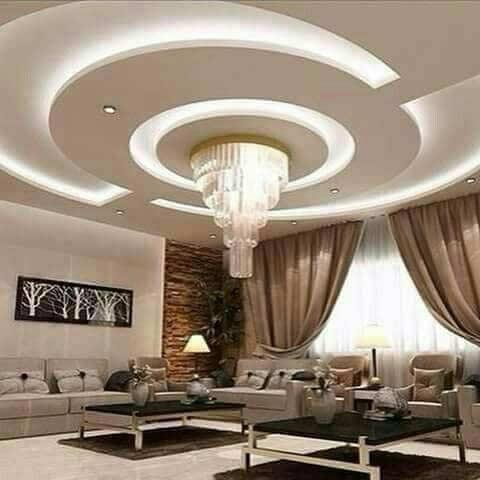Plaster of paris ceiling designs for living room for Plaster ceiling design for living room