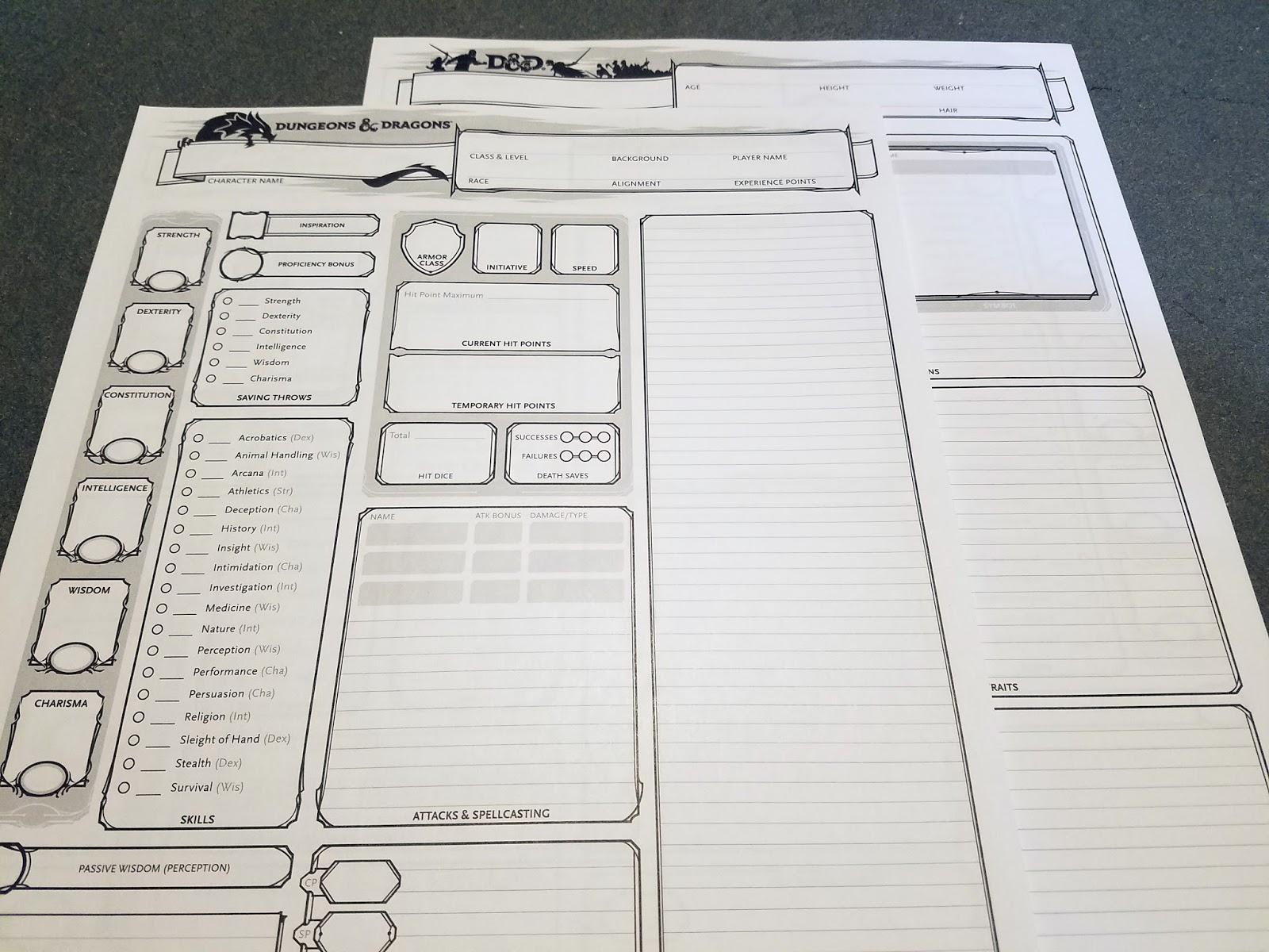 Ultanya: Review: D&D Character Sheets