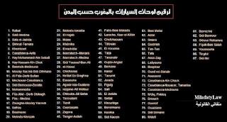 ترقيم السيارات بالمغرب