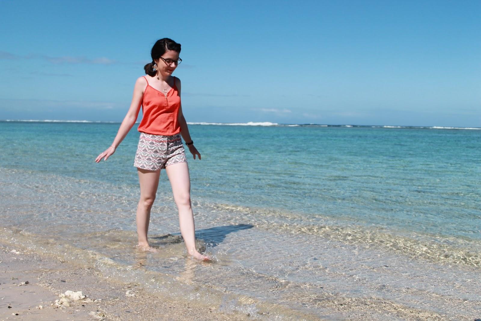 gotoreunion vacances holidays île de la réunion 974 océan indien plage beach lagon ermitage hermitage saline les bains tenue ootd look blog mode femme cache cache creeks by la halle eram eau turquoise sable blanc
