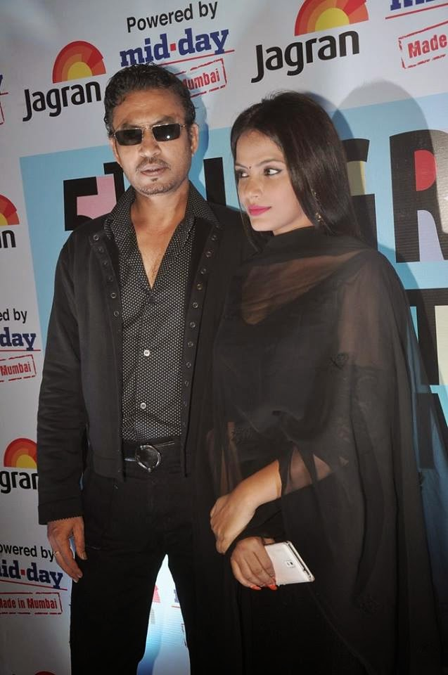 Neetu Chandra & Irrfan Khan at the opening ceremony of 5th Jagran Film Festival