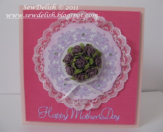 Mother's Day car cricut lacy labels martha stewart seasonal cartridge prima flowers make card