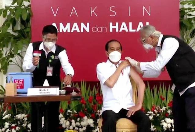 Presiden Jokowi jadi Orang Pertama yang Divaksin Covid-19 di Indonesia
