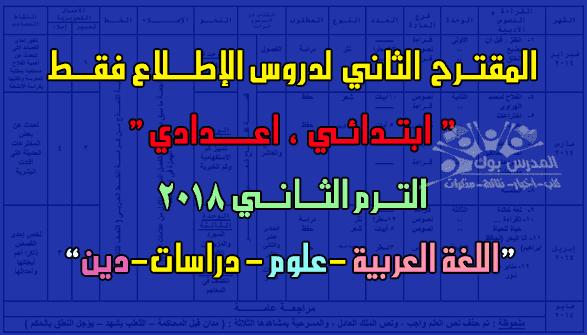 الدروس المقررة للإطلاع فقط ابتدائي واعدادي ترم ثاني 2018,الدروس المحذوفة من منهج العلوم,الرياضيات,العربي