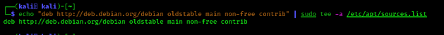 Debian repository on Kali Linux