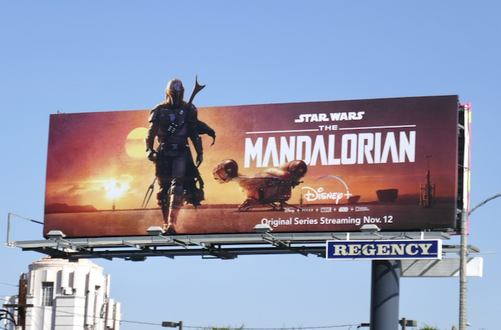 Star Wars Madalorian series premiere billboard