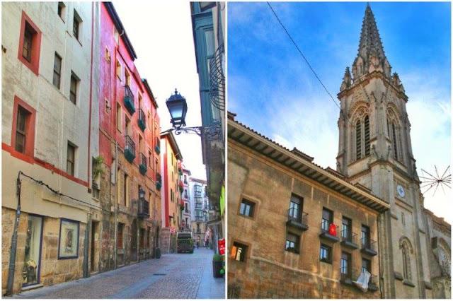 Calle del Casco Viejo de Bilbao – Catedral de Santiago en Bilbao