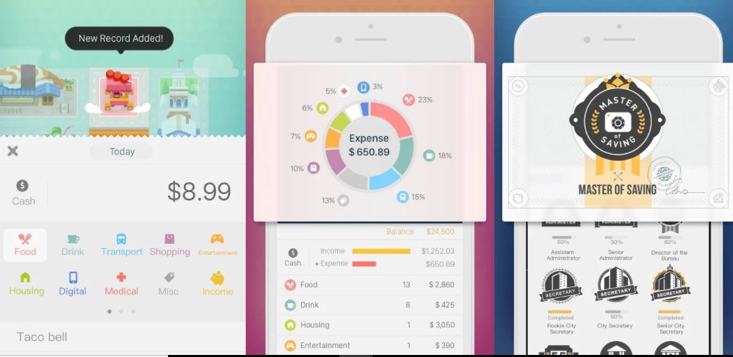 Fortune budget, money and expense tracking app for android and ios iphone