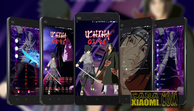 Update MIUI Thema Naruto V40 Uchiha's Clan Mtz Fix Link For Xiaomi