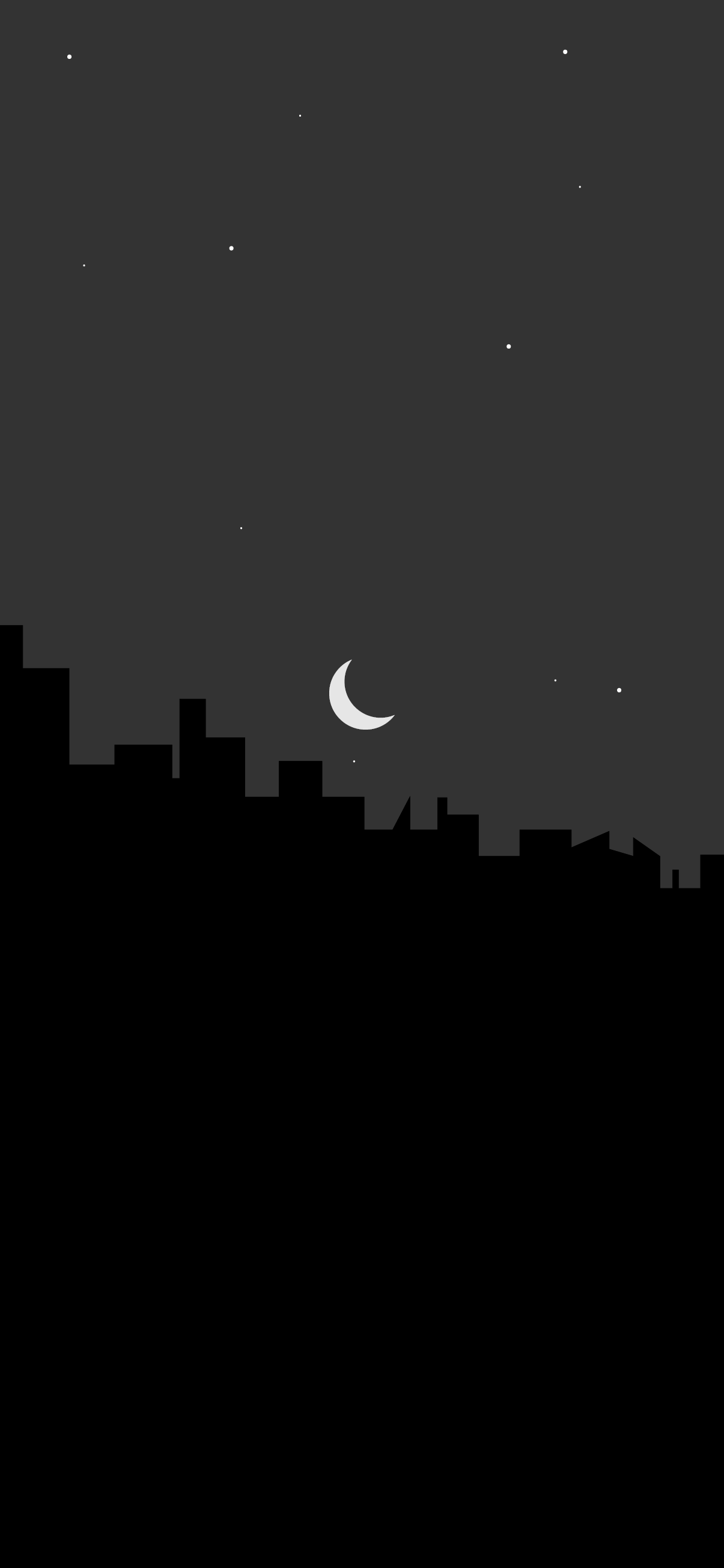 grey and black wallpaper city silhouette minimalist 4k background