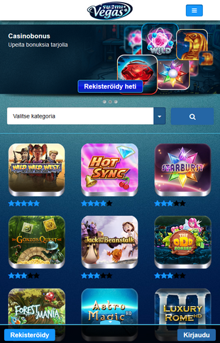 Suomi Vegas Casino Games Screen