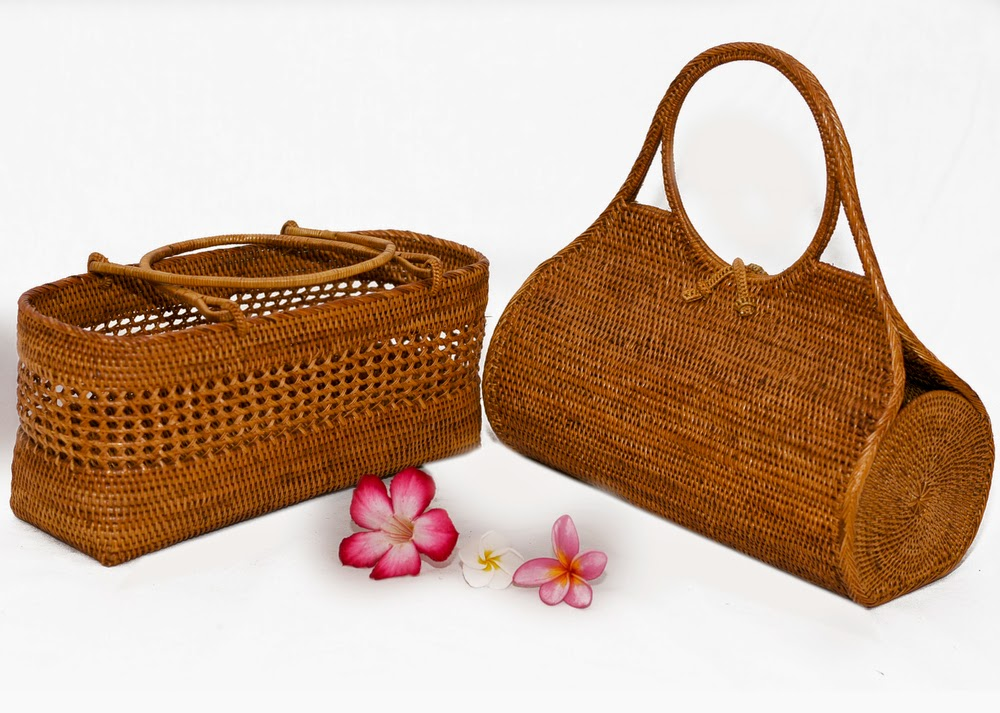 Jual tas unik dari anyaman ketak lombok