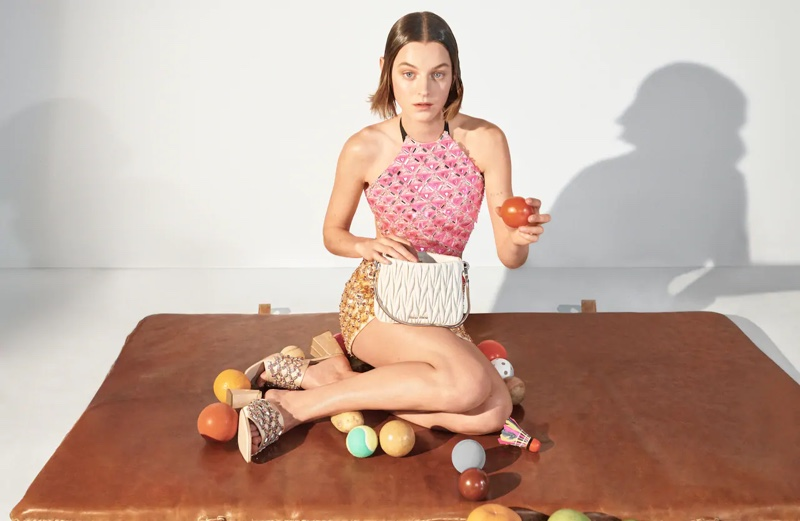 Emma Corrin stars in Miu Miu spring-summer 2021 campaign.