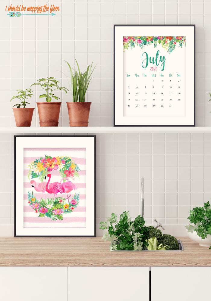 Free July Calendar Printable