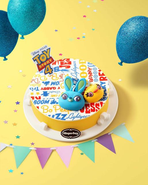 Häagen-Dazs, Hong ong, Disney, Pixar, Toy Story 4, 香港, 阿德, 賓尼, Ducky, Bunny, 雪糕蛋糕, Ice Cream Cake, Summer, 反斗奇兵4, 玩具總動員4