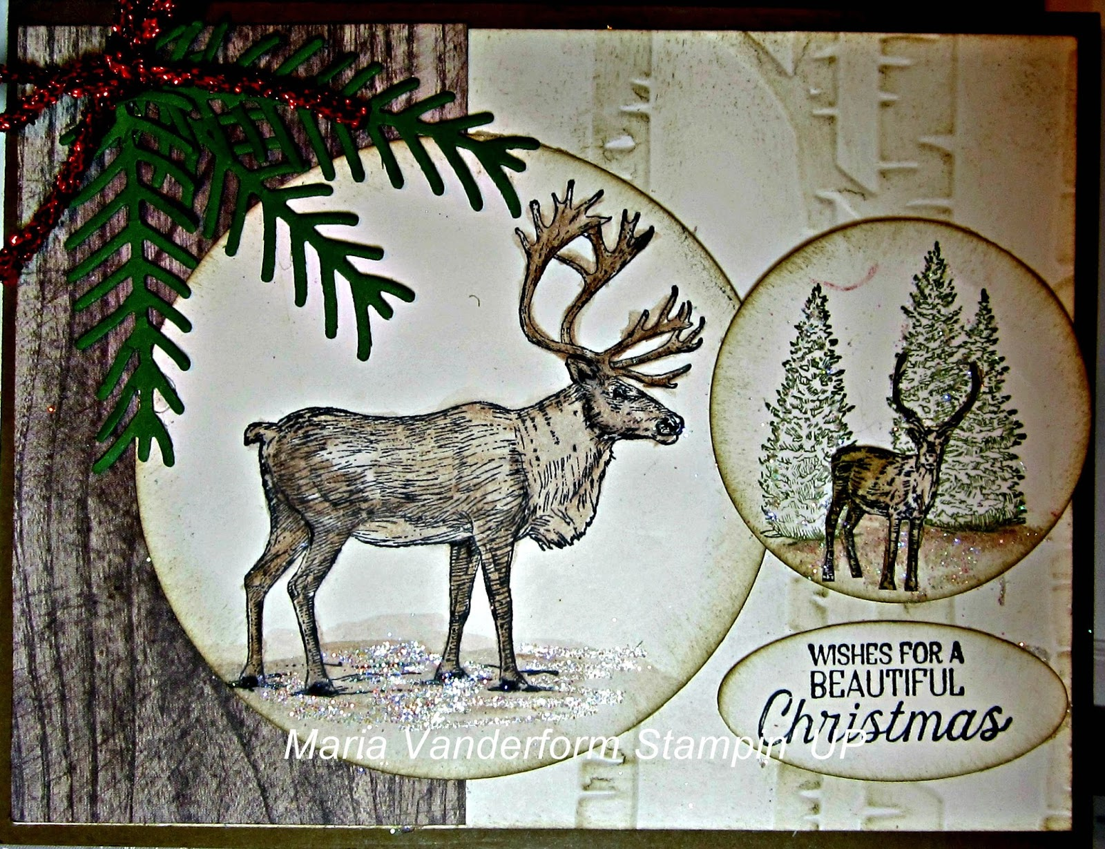 Crafty Maria\'s Stamping World: Nature Sings - a Masculine Christmas card
