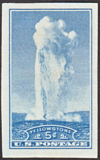 Yellowstone National Park Imperforate 5¢ 1935
