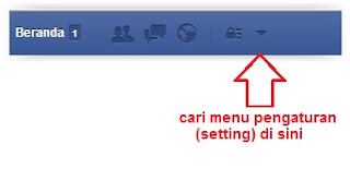 Menu Setting Facebook