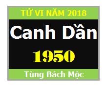 Tử Vi Tuổi Canh Dần 1950 Năm 2018