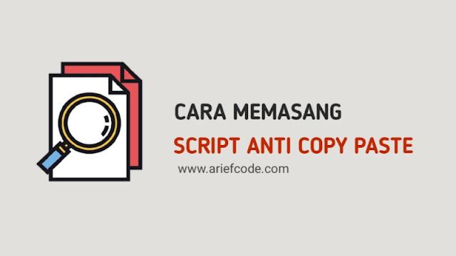 memasang kode script anti copy paste pada blogger
