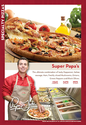 Life's Confectionaries: Papa John's Pizza