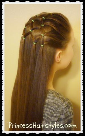 Peachy Elastic Christmas Tree Hairstyle Hairstyles For Girls Princess Short Hairstyles Gunalazisus