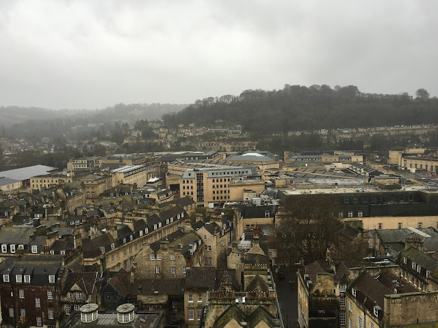 The view from Bath Abbey, looking North