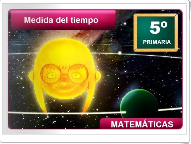 """""""Medida del tiempo"""" (Aplicación interactiva de Matemáticas de Primaria)"""