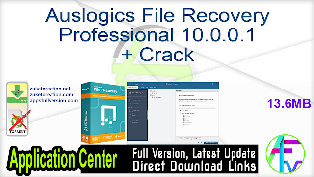 Auslogics File Recovery Professional 10.0.0.1 + Crack