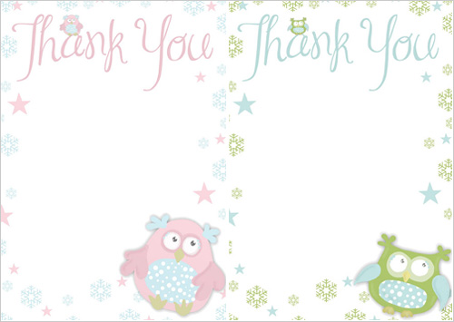 My Owl Barn Printable Thank You Papers - printable thank you note