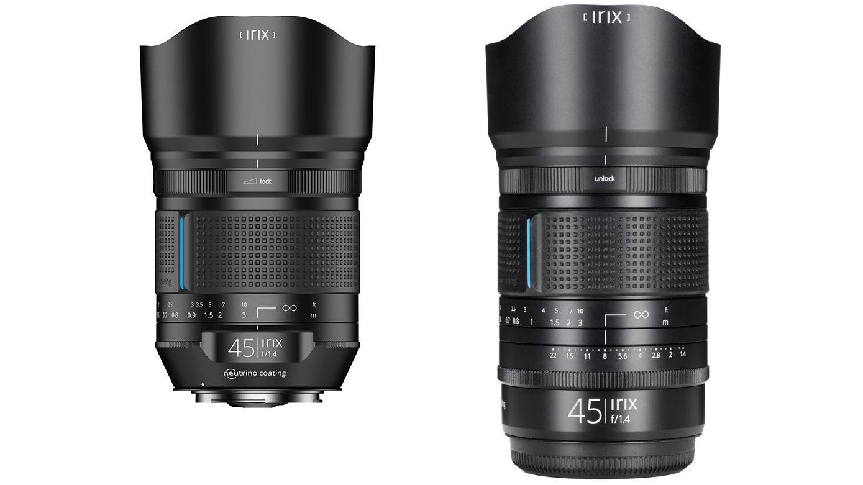 Сравнение габаритов разных версий объектива Irix 45mm f/1.4