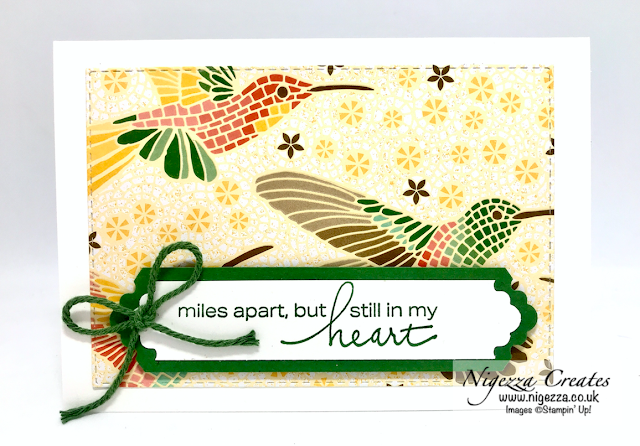 Nigezza Creates with Stampin Up! Mosaic Mood Note Cards & Gift Box Plus Lovely Label Punch