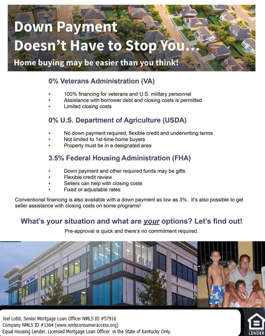 Kentucky First Time Home Buyer Loans for USDA, FHA, VA, and Fannie Mae