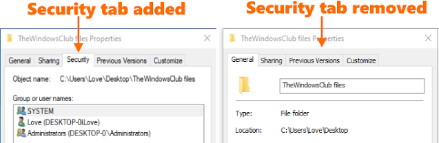 How to Remove Security Tab From Files and Folders Properties Windows 10