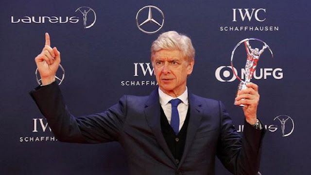 Arsene Wenger Raih Lifetime Achievement dari Laureus Award