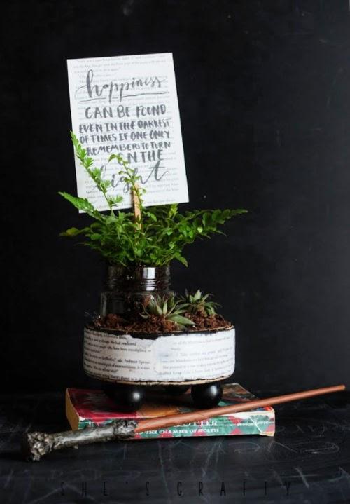 Harry Potter Planter - dumbledore quote on plant pick