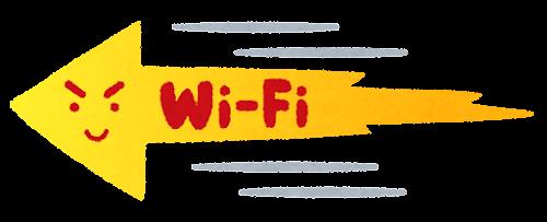 速いWi-Fiのイラスト(左向き)