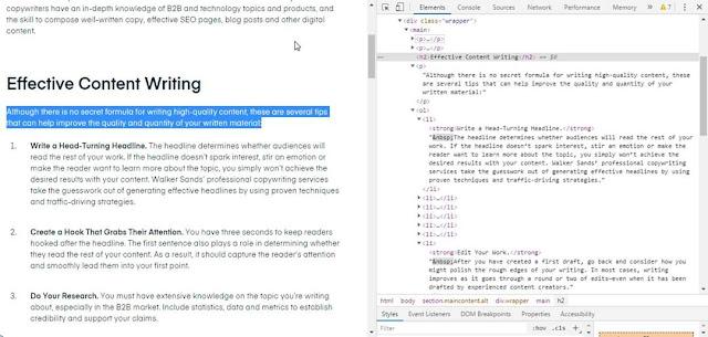 Cấu trúc trình bày HTML của một bài viết chuẩn SEO như thế nào