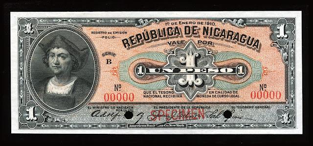 Nicaragua Peso Banknote