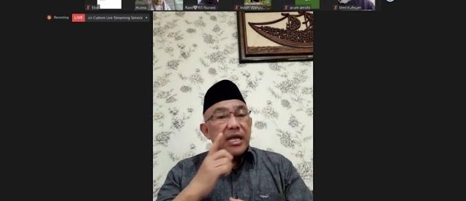 Ini Pesan Idris Saat Menjadi Keynote Speaker Webinar Tarhib Ramadhan