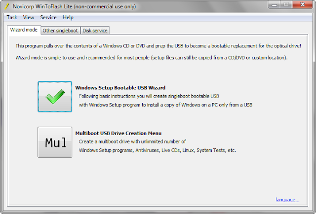 WinToFlash 1.10.0000 | Crear USB para instalación de Windows en Notebooks