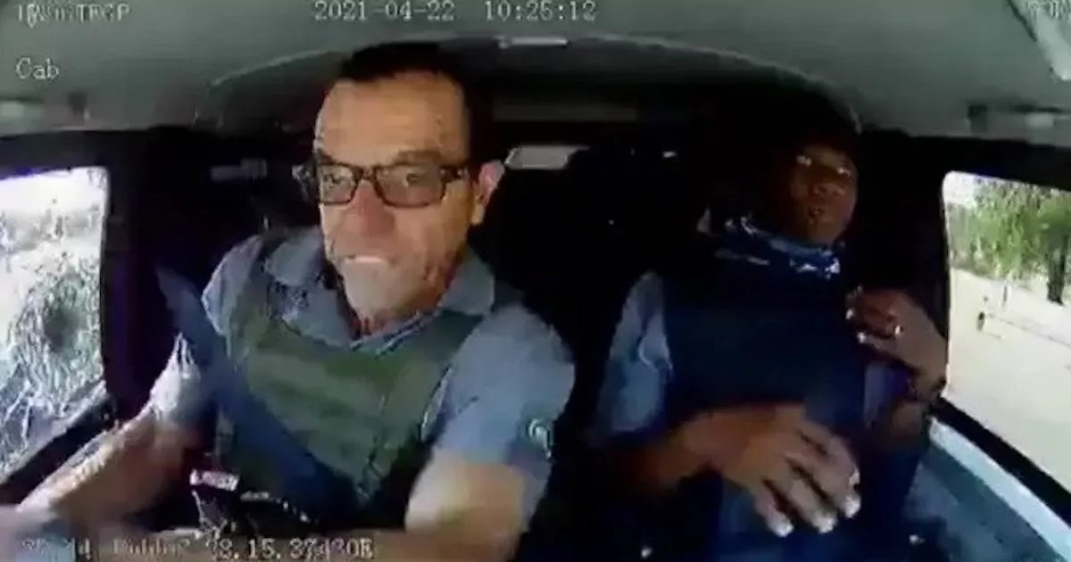 Shocking Dashcam Footage Shows 2 Security Guards In South Africa Driving Through Hail Of Bullets While Being Chased By Robbers