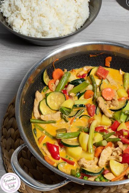 Puten-Curry aus dem Wok wie beim Thailänder