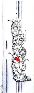 My tangle Growing Hearts